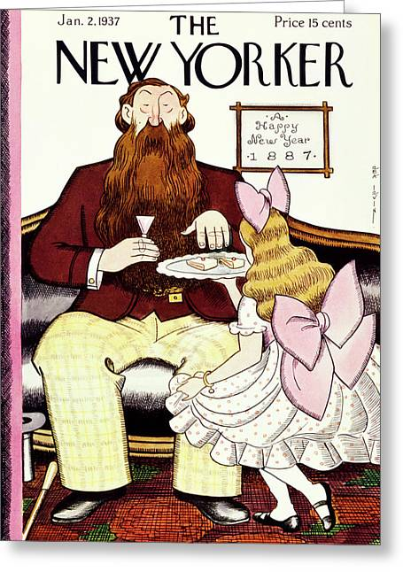 New Yorker January 2 1937 Greeting Card