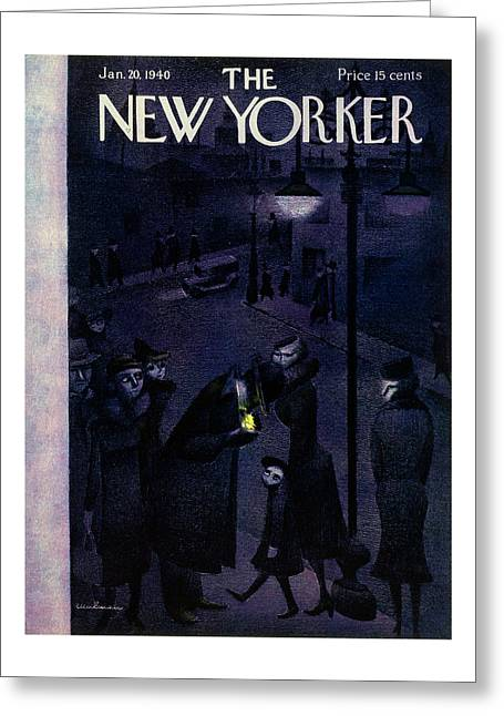 New Yorker January 20 1940 Greeting Card