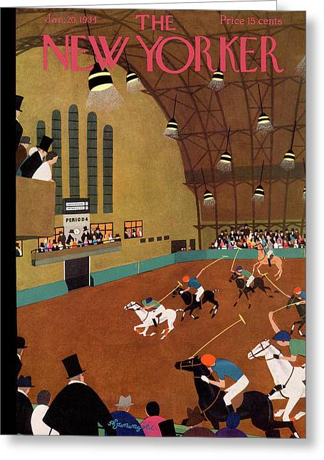 New Yorker January 20th, 1934 Greeting Card