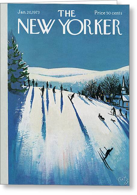 New Yorker January 20th, 1973 Greeting Card by Arthur Getz