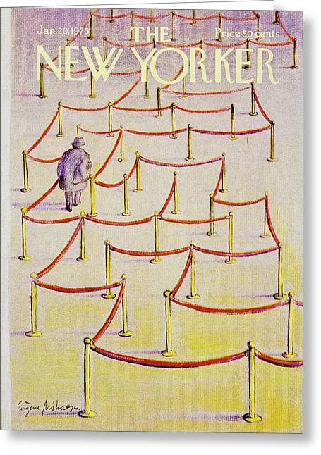 New Yorker January 20th 1975 Greeting Card