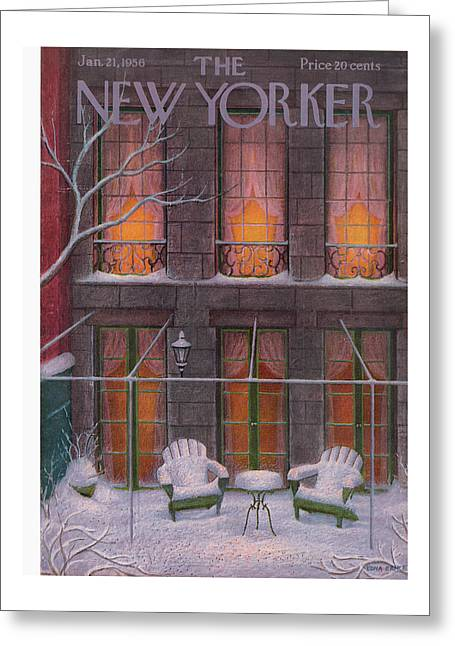 New Yorker January 21st, 1956 Greeting Card