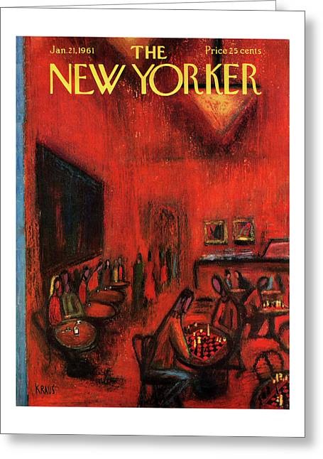 New Yorker January 21st, 1961 Greeting Card