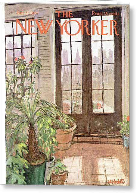 New Yorker January 21st, 1967 Greeting Card by Frank Modell