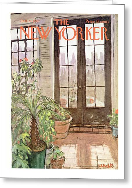 New Yorker January 21st, 1967 Greeting Card