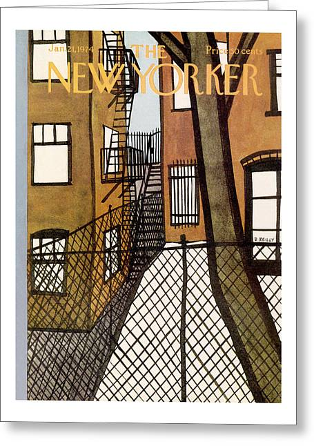New Yorker January 21st, 1974 Greeting Card
