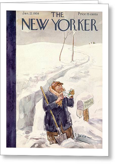 New Yorker January 22nd, 1938 Greeting Card