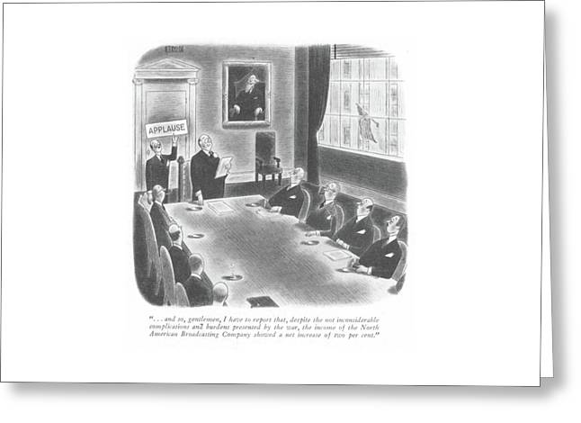 New Yorker January 22nd, 1944 Greeting Card