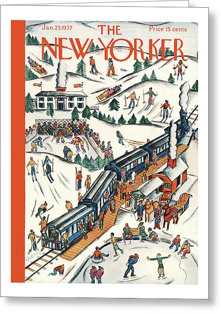 New Yorker January 23rd, 1937 Greeting Card