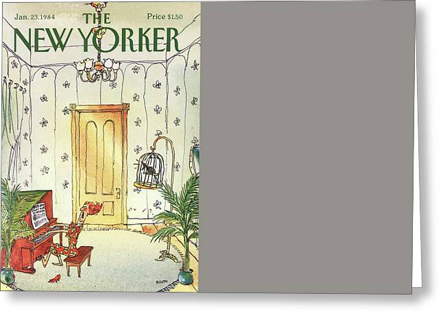 New Yorker January 23rd, 1984 Greeting Card by George Booth