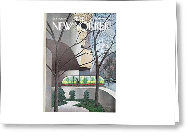 New Yorker January 24th, 1970 Greeting Card by Charles E. Martin