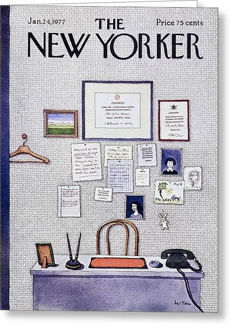 New Yorker January 24th 1977 Greeting Card