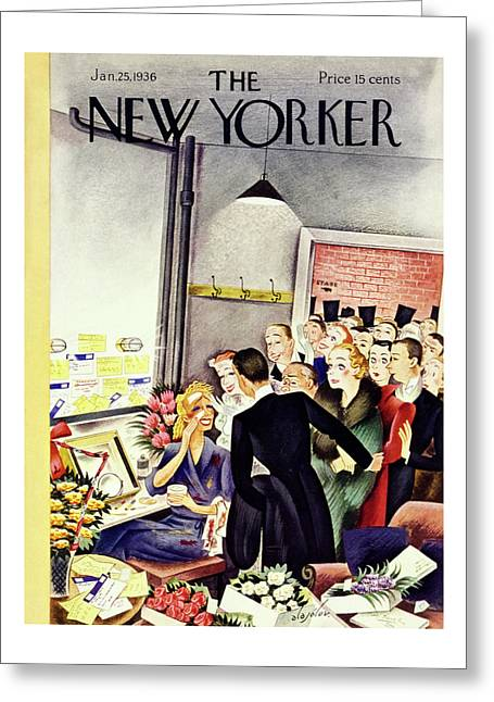 New Yorker January 25 1936 Greeting Card