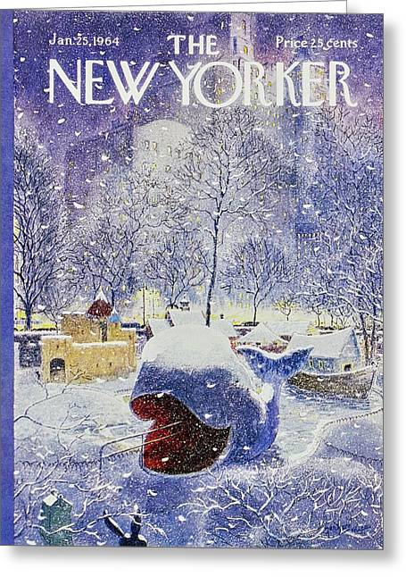 New Yorker January 25th 1964 Greeting Card