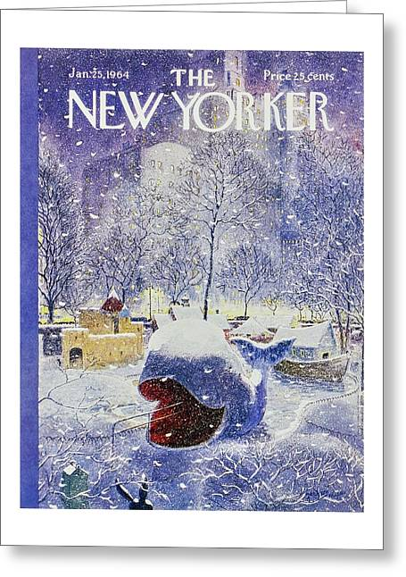 New Yorker January 25th 1964 Greeting Card by Garrett Price