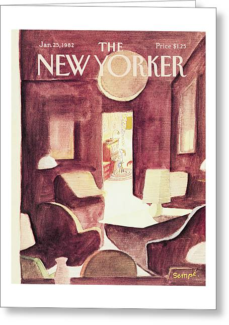 New Yorker January 25th, 1982 Greeting Card