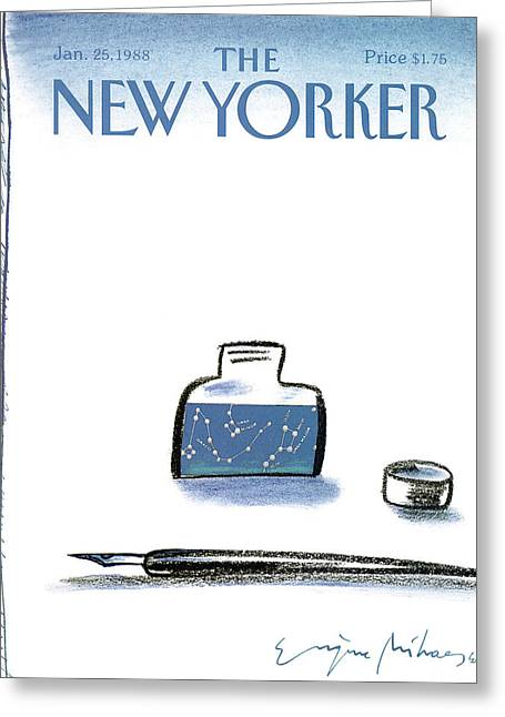 New Yorker January 25th, 1988 Greeting Card by Eugene Mihaesco