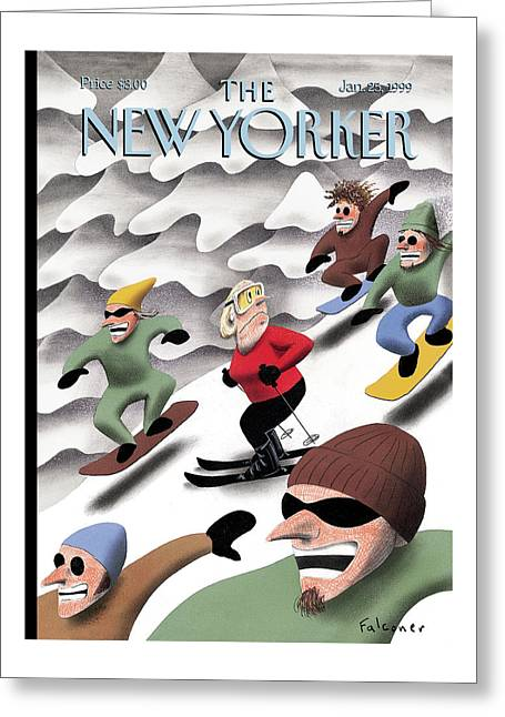 New Yorker January 25th, 1999 Greeting Card