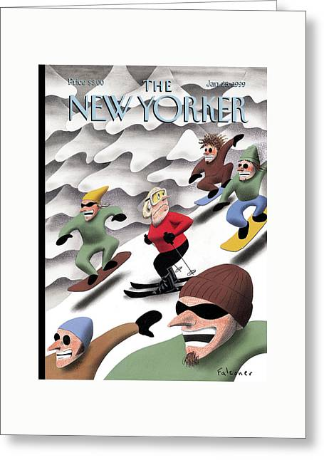 New Yorker January 25th, 1999 Greeting Card by Ian Falconer