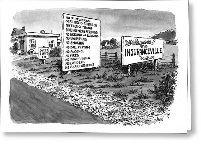 New Yorker January 25th, 1999 Greeting Card by John Jonik