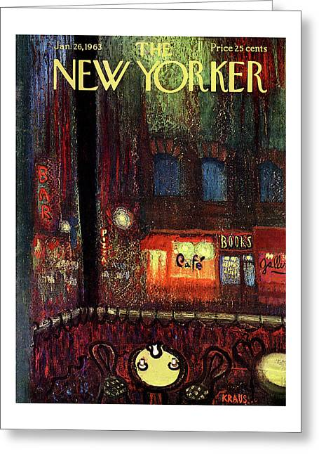 New Yorker January 26th, 1963 Greeting Card