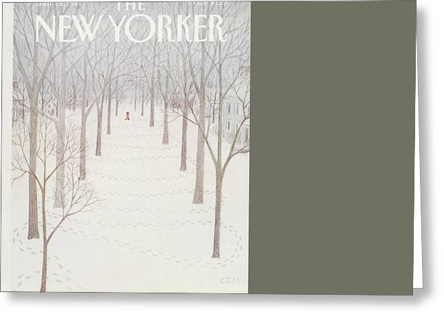 New Yorker January 26th, 1981 Greeting Card by Charles E. Martin