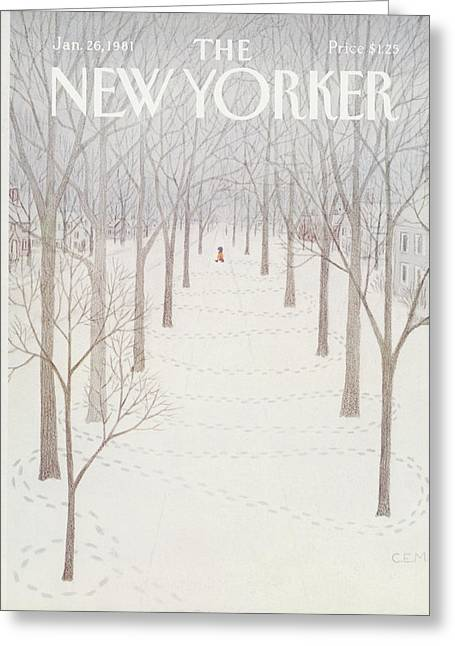 New Yorker January 26th, 1981 Greeting Card