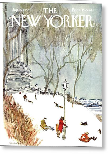 New Yorker January 27th, 1968 Greeting Card by James Stevenson