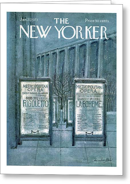 New Yorker January 27th, 1973 Greeting Card