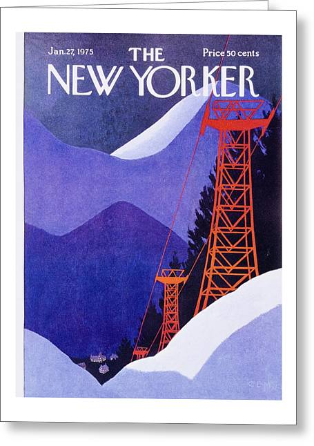 New Yorker January 27th 1975 Greeting Card