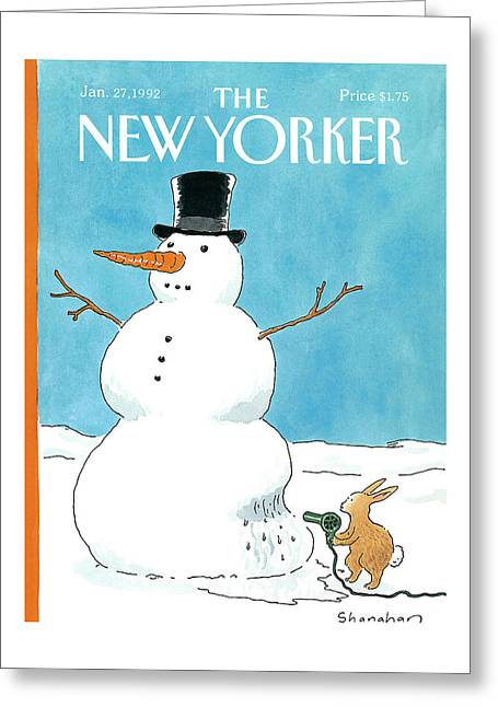 New Yorker January 27th, 1992 Greeting Card