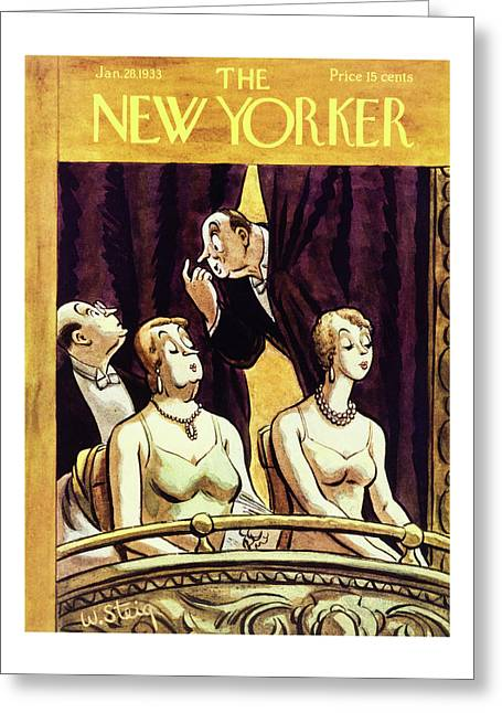 New Yorker January 28 1933 Greeting Card