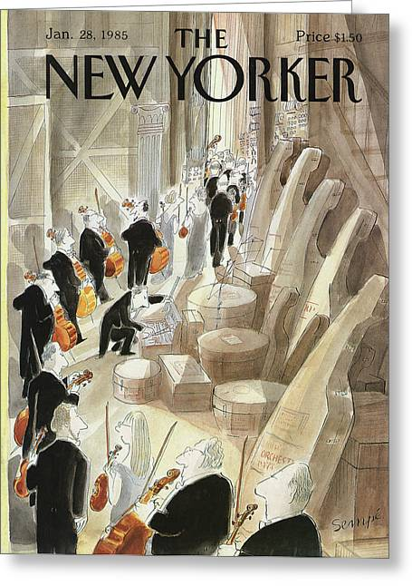 New Yorker January 28th, 1985 Greeting Card by Jean-Jacques Sempe