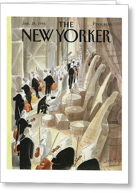 New Yorker January 28th, 1985 Greeting Card