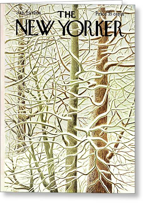 New Yorker January 29th, 1966 Greeting Card