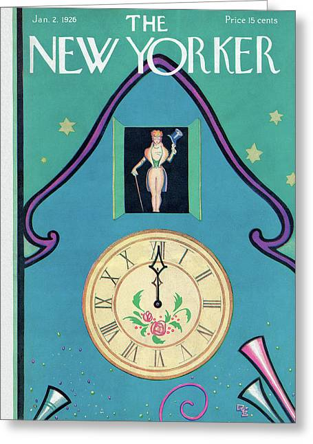 New Yorker January 2nd, 1926 Greeting Card by Rea Irvin