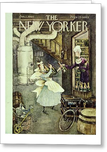 New Yorker January 2nd 1960 Greeting Card
