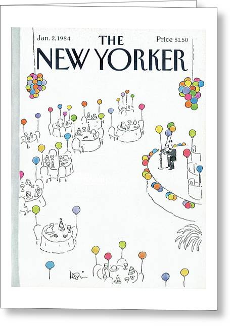 New Yorker January 2nd, 1984 Greeting Card