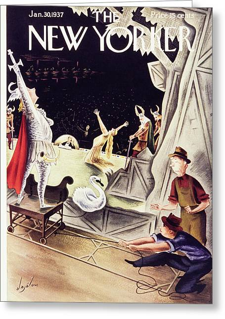 New Yorker January 30 1937 Greeting Card