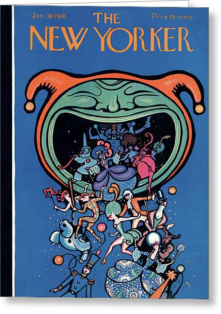 New Yorker January 30th, 1926 Greeting Card by Rea Irvin