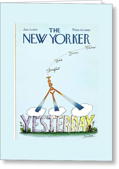 New Yorker January 31st, 1970 Greeting Card by Saul Steinberg