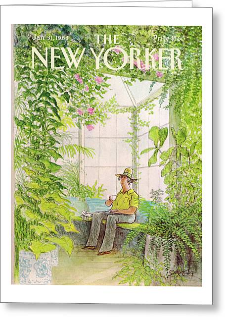 New Yorker January 31st, 1983 Greeting Card by Charles Saxon