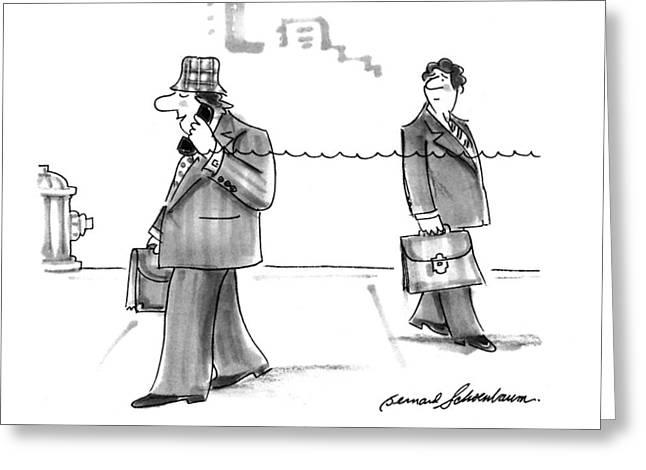 New Yorker January 31st, 1994 Greeting Card by Bernard Schoenbaum