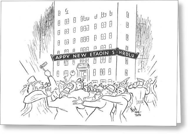 New Yorker January 3rd, 1942 Greeting Card by Ned Hilton
