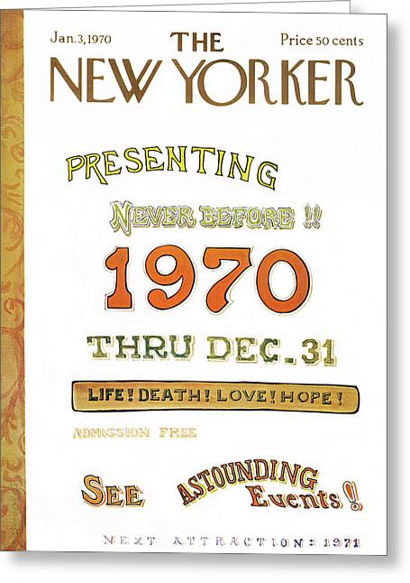 New Yorker January 3rd, 1970 Greeting Card