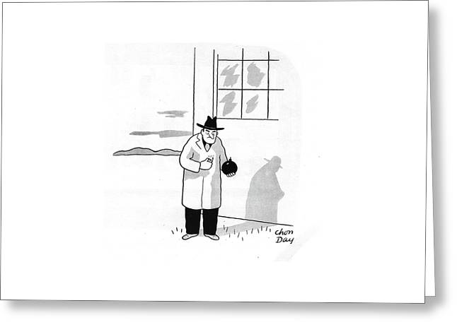 New Yorker January 4th, 1941 Greeting Card by Chon Day