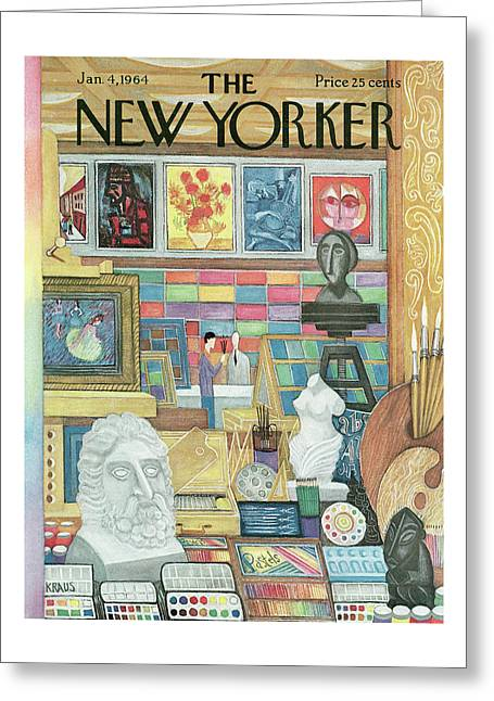 New Yorker January 4th, 1964 Greeting Card