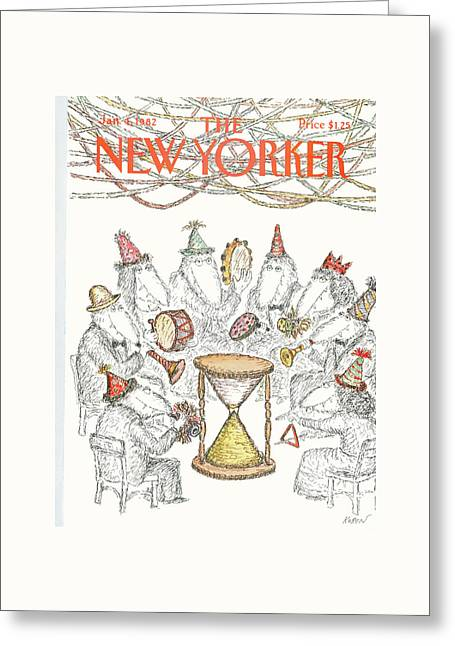 New Yorker January 4th, 1982 Greeting Card by Edward Koren