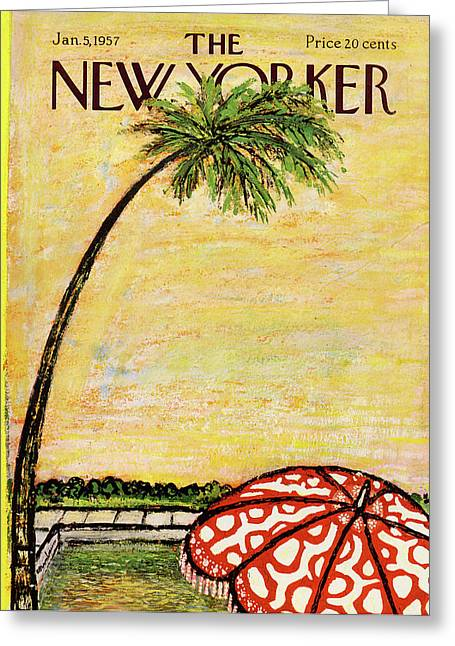New Yorker January 5th, 1957 Greeting Card