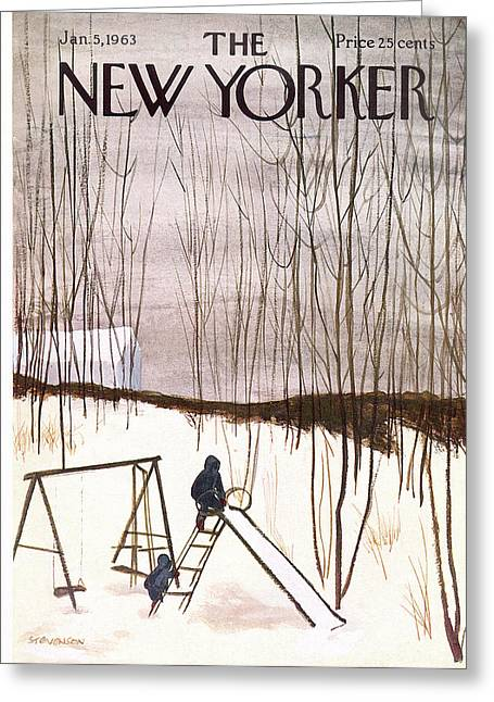 New Yorker January 5th, 1963 Greeting Card by James Stevenson